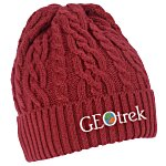 Optimal Cable Knit Cuffed Toque