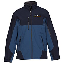 View a larger, more detailed picture of the North End Colour Block Soft Shell Jacket - Men s