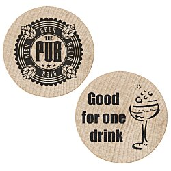 View a larger, more detailed picture of the Wooden Nickel - Drink