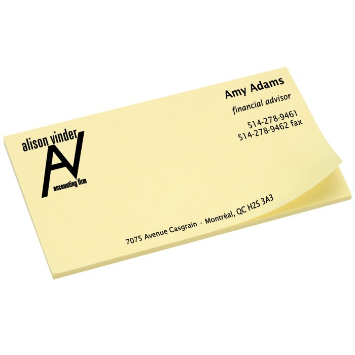 4imprint.ca: Post-it® Business Card Notes - 2\
