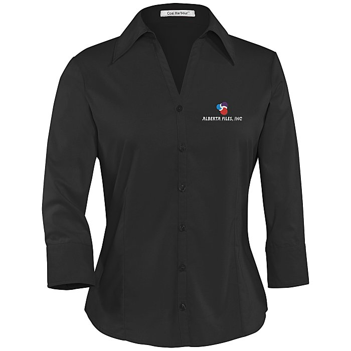 b45f2ff9f953 4imprint.ca  Coal Harbour Easy Care 3 4 Sleeve Shirt - Ladies  C105620-L