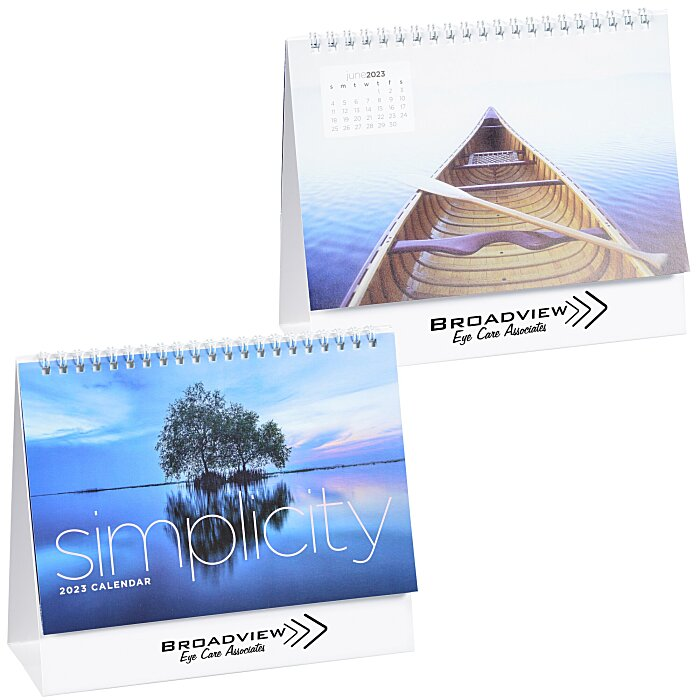 4imprint Ca Simplicity Large Desk Calendar C115785