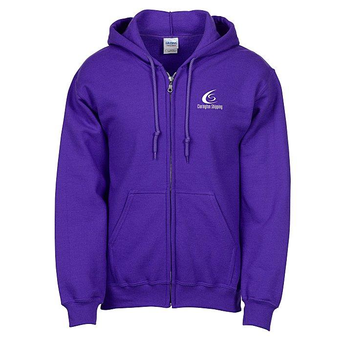 d7ded59b 4imprint.ca: Gildan 50/50 Full-Zip Hooded Sweatshirt - Screen C110842-S