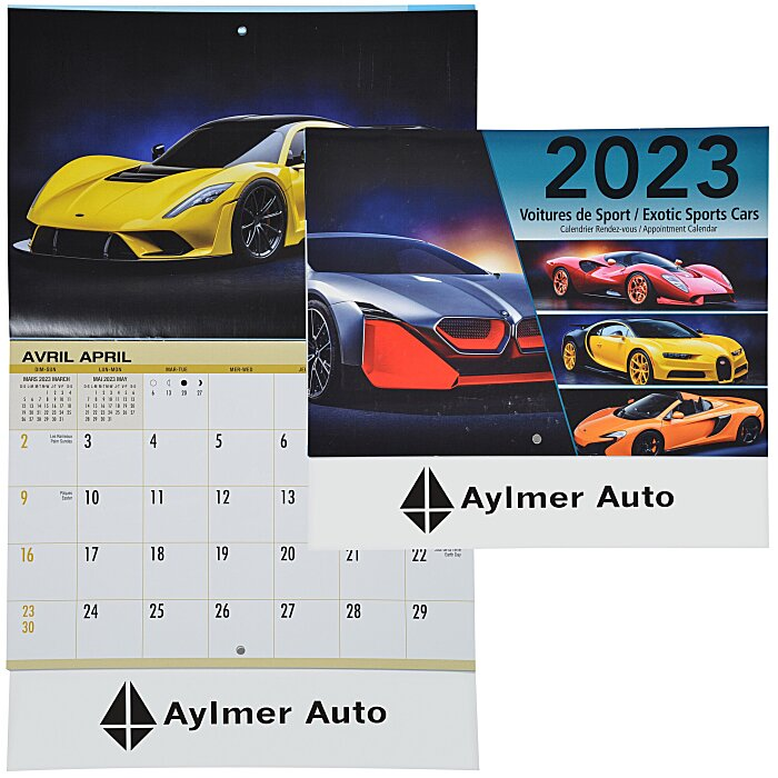 4imprint Ca Automobile Fever Appointment Calendar French English