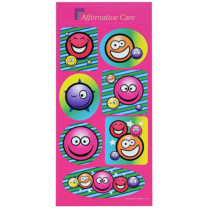 4imprint.ca: Super Kid Sticker Sheet - Smiley Faces C122606-SF