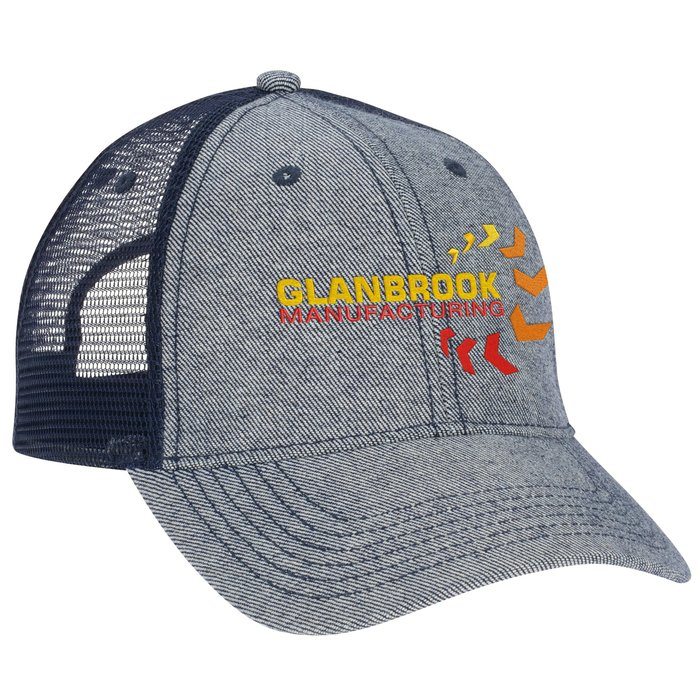 4imprint.ca  Denim Trucker Mesh Back Cap C145858 a6e0fda59e62