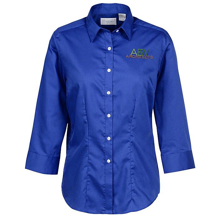 c858e11f23c 4imprint.ca  Van Heusen Wrinkle Free 3 4 Sleeve Twill Shirt - Ladies   C148226-L