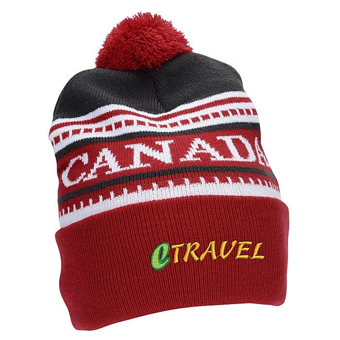 4imprint.ca  Canada Pom Pom Beanie C149864 54f18ff42270