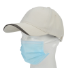 View Image 3 of 4 of Wave Sandwich Cap with Face Mask Buttons