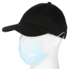 View Extra Image 3 of 3 of Cotton Twill Low Fit Cap with Face Mask Buttons