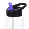 View Extra Image 1 of 2 of Clear Impact Guzzler Sport Bottle with Two-Tone Flip Straw Lid - 32 oz.