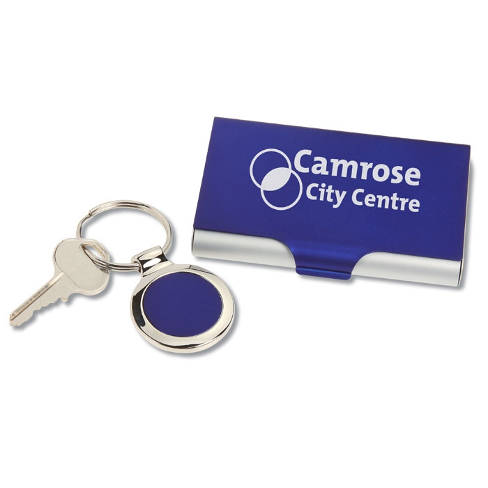 4imprint.ca: 2-in-1 Keychain/Business Card Holder Set C110624