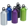 View Extra Image 2 of 2 of Aluminum Water Bottle with Carabiner - 16 oz. - Matte