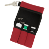 View Extra Image 1 of 1 of USB Pouch - Triple with Key Ring