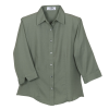 View Extra Image 1 of 1 of Easy-Care 3/4 Sleeve  French Twill Shirt - Ladies' - Closeout