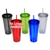 View Extra Image 1 of 1 of Coloured Double Wall Tumbler with Straw - 24 oz.