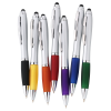 View Extra Image 1 of 3 of Curvy Stylus Twist Pen - Silver