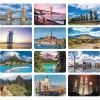 View Extra Image 4 of 4 of World Scenic Desk Calendar - French/English