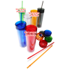View Extra Image 1 of 1 of Hot & Cold Skinny Tumbler - 16 oz.- Closeout
