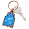 View Extra Image 1 of 2 of Sports Jersey Metal Keychain - Basketball