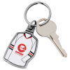 View Extra Image 1 of 2 of Sports Jersey Metal Keychain - Hockey