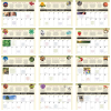 View Extra Image 1 of 1 of The Old Farmer's Almanac Calendar - Home Hints - Spiral