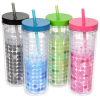 View Extra Image 2 of 2 of Ice Chameleon Tumbler with Straw - 16 oz.