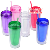 View Extra Image 2 of 2 of Vivid Tumbler with Straw - 14 oz.