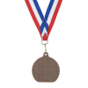 View Extra Image 2 of 2 of Econo Medal - Flat Bottom with Red, White & Blue Ribbon