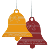 View Extra Image 2 of 2 of Coloured Aluminum Ornament - Bell