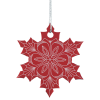 View Extra Image 1 of 2 of Coloured Aluminum Ornament - Snowflake