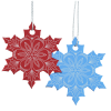 View Extra Image 2 of 2 of Coloured Aluminum Ornament - Snowflake