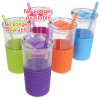 View Extra Image 2 of 2 of Ripple Tumbler with Straw - 20 oz. - Closeout