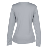 View Extra Image 1 of 2 of Popcorn Knit Performance Long Sleeve Tee - Ladies' - Screen