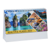 View Extra Image 2 of 5 of Beautiful Places Executive Desk Calendar - French