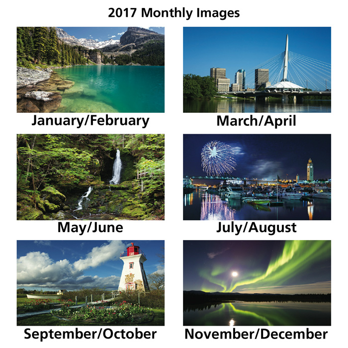 4imprint ca  canada charms large 2 month view calendar