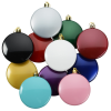View Extra Image 1 of 2 of Flat Shatterproof Ornament - Happy Holidays