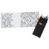 View Extra Image 1 of 1 of Adult Colouring Book To-Go Set - Matte Black