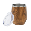 View Extra Image 1 of 1 of Corzo Vacuum Insulated Wine Cup - 12 oz. - Wood - 24 hr