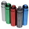 View Extra Image 2 of 2 of Metallic Look Water Bottle with Arch Lid - 24 oz.