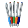 View Extra Image 3 of 4 of Sanibel Light-Up Logo Stylus Twist Pen - Silver
