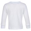 View Image 2 of 5 of Rabbit Skins Jersey Long Sleeve T-Shirt - Toddler - White