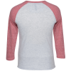 View Image 2 of 3 of Unisex Tri-Blend Baseball Tee - Embroidered