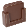 View Extra Image 2 of 3 of Vintage Square Bonded Leather Coaster Set