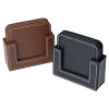 View Extra Image 3 of 3 of Vintage Square Bonded Leather Coaster Set