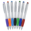 View Extra Image 3 of 5 of Evantide Light-Up Logo Stylus Twist Pen - Silver