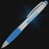View Extra Image 5 of 5 of Evantide Light-Up Logo Stylus Twist Pen - Silver