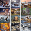 View Extra Image 1 of 1 of Wildlife Canvas Calendar - Spiral