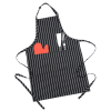 View Extra Image 1 of 1 of Chalkstripe Butchers Bib Apron