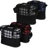 View Image 2 of 5 of Buffalo Plaid Cooler Bag - Embroidered